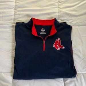 Majestic Boston Red Sox 1/4 Zip Sweatshirt